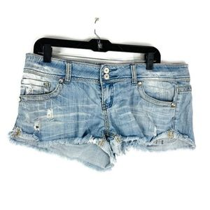 Almost Famous Distressed Cut Off Jean Shorts Size9